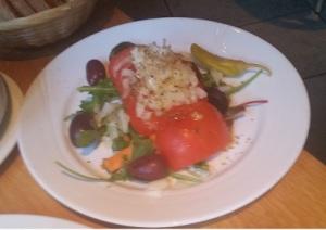 greken på hörnet tomatsallad